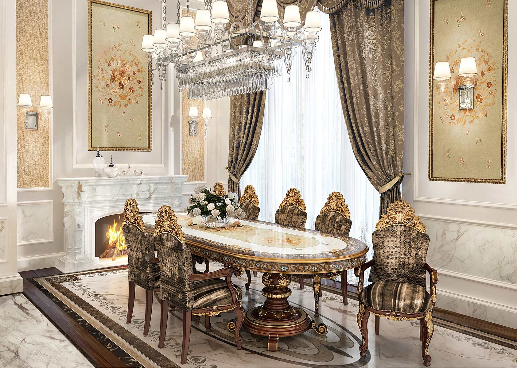 3D HIGH RESOLUTION PROJECTS <br/> Master Dining Room